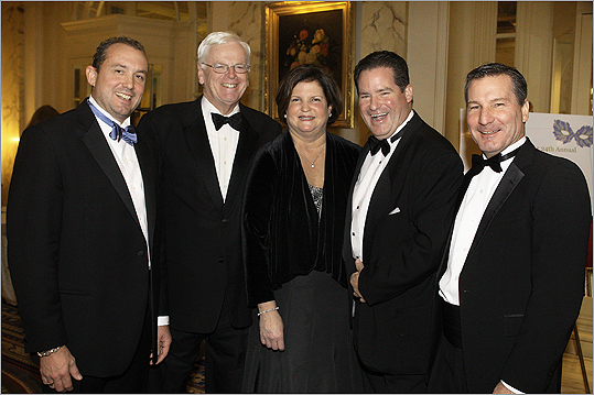 Nov. 18 in Boston About 500 guests attended the Boys and Girls Club of Dorchester Grand Carnivale Gala held at the Fairmont Copley Hotel. From left: Lee Michael Kennedy of Duxbury, chairman of the board of directors, event co-chairpeople Bob Sheridan of Hingham, Maureen Peterson of Milton, Dan Flynn of Milton and Bob Scannell of Milton. Scannell is president and chief executive of Boys and Girls Clubs of Dorchester.