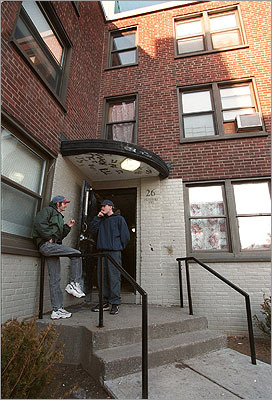 Past 1998: Donald Hunt (right) and Rick Derby stood outside Old Colony.