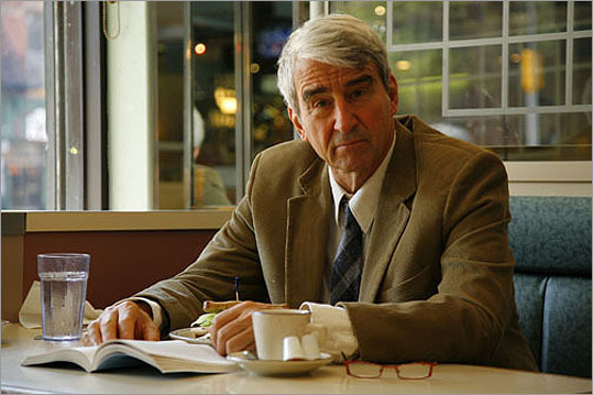 Sam Waterston Waterston's parents were teachers as well as amateur actors in Cambridge, where he was born. He graduated from Yale University, where he majored in drama and attended the Sorbonne in Paris. Waterston is known mostly for his role in 'Law & Order.'' As for the show's endless reruns on multiple channels, Waterston is sanguine. 'I've helped a lot of people with insomnia,' he says. 'I'm not watching at 2 o'clock in the morning but I'm glad someone is.'