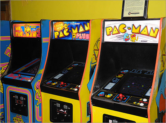 The original Pac-Man, as well as several Pac-Man-inspired spinoffs, are available to play. Read the Boston.com article.