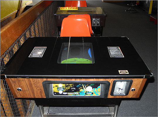 Cocktail-table video games were a common site in bars and restaurants back in the '80s. ACAM features several, including this rare Stratovox game. Read the Boston.com article.