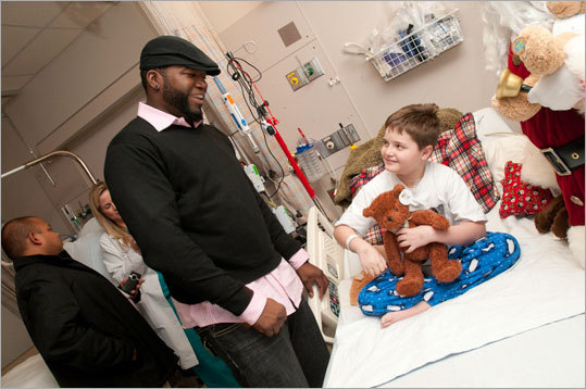 David Ortiz at MassGeneral Hospital for Children.