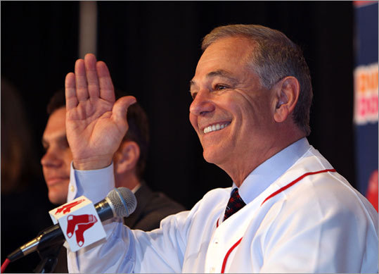 'I'm honored, I'm humbled, I'm pretty damn excited,'' said Valentine, choosing his words deliberately after he was introduced by general manager Ben Cherington and donned his new Red Sox jersey. 'I'm looking around for the teleprompter. And I don't see one.''