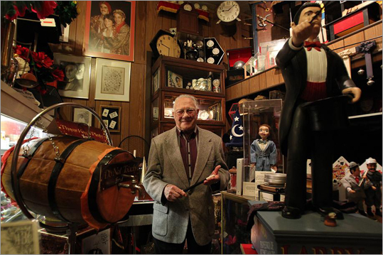 For 40 years, Ray Goulet was the master of card tricks and illusions, performing at the White House and for the Duke and Duchess of Windsor. But since he retired 20 years ago, Goulet, 81, has devoted himself to his Magic Art Studio, a brick building at 137 Spring St. in Watertown that houses a public museum and shop, as well as a theater and meeting place for local magicians. Goulet stood in his shop, surrounded by items accumulated during his long magic career.