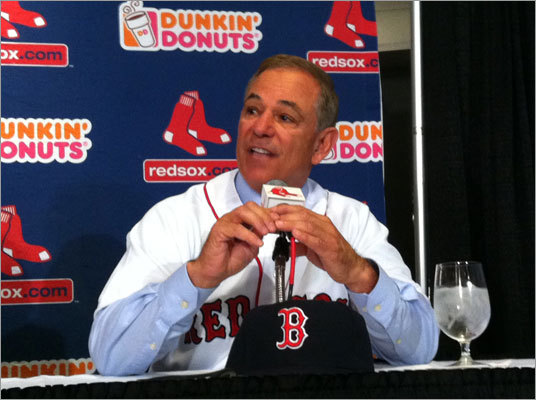 Bobby Valentine was introduced at Fenway Park as the 45th manager of the Red Sox. 'It's a special day,' he said. Story: Valentine introduced as red Sox manager