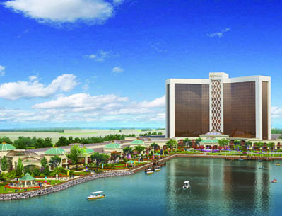 An artist's rendering of the Everett casino site.