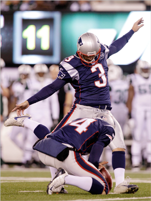 Who do you think has the edge at Adam Vinatieri vs. Stephen Gostkowski?