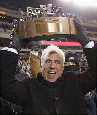Jeffrey Lurie When the billionaire was growing up in Newton, he became obsessed with the Patriots football team. He attended every home game, even in the snow. He tried to buy the team in the mid-1990s but that didn't work out. So, instead, Lurie eventually bought the Philadelphia Eagles. It occasionally causes awkward moments with his relatives dedicated to the Patriots. 'We stay off the subject,' Lurie said.