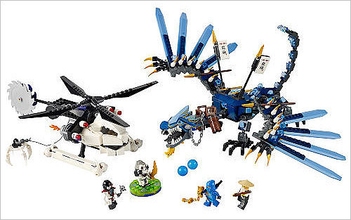 LEGO Ninjago Limited Edition Lightning Dragon Battle Price: $79.99 It's a combination of Legos, ninjas, and a 18-inch dragon. Comes in 645 pieces. You know that will mean hours of entertainment.
