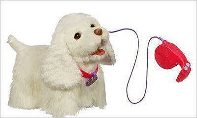 FurReal Friends Go Go My Walkin' Pup Price: $44.99 Don't want to deal with the messes that come with a new puppy? The robotic dog will go on walks with you and make sounds.