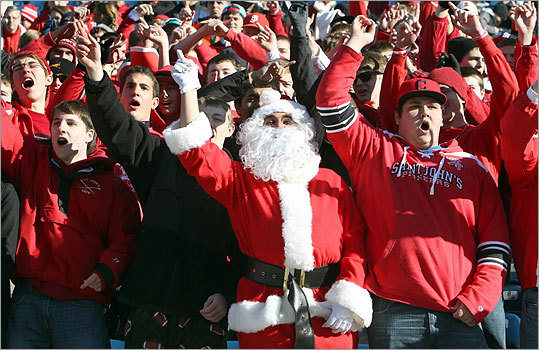 Central Mass. Div. 1: Leominster 21, St. John's 6 St. John's had Santa rooting for them at Gillette Stadium, but that was not enough to overcome Leominster.