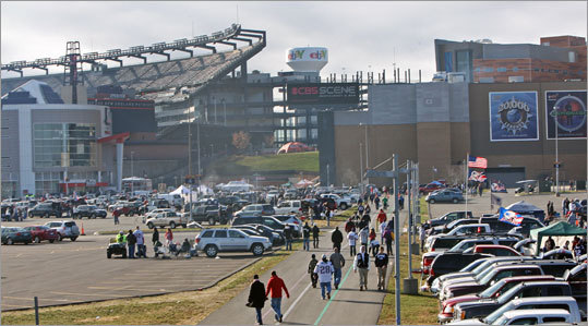 Patriots fans had to get the tailgating started outside Gillette Stadium earlier than usual because the Patriots were scheduled for a rare 1 p.m. game vs. the Colts. The game was originally set to be the Sunday night game, but was flexed out of that spot because the Colts are winless.