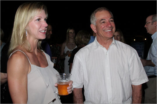 Stacy Wakefield and new Red Sox manager Bobby Valentine.