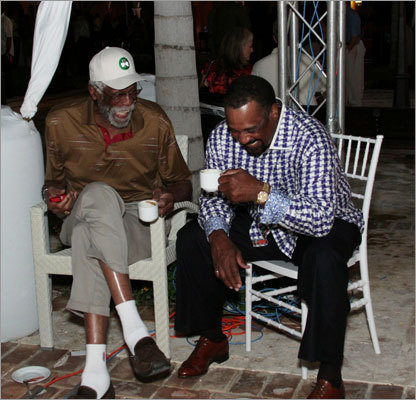 Bill Russell and Jim Rice.