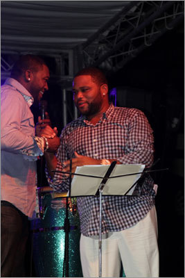 David Ortiz and Anthony Anderson.