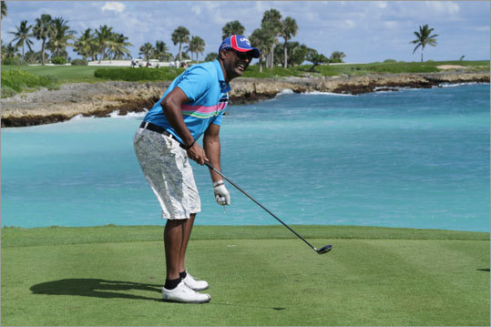 Golfers played the Punta Espada golf course.