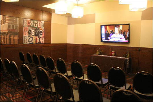 D&B offers two upstairs areas for parties and conferences. As part of the company's philanthropic efforts, this room can be also rented out free to non-for-profits. Typically, the entire room can be rented for 4-5 hours for approximately $250.
