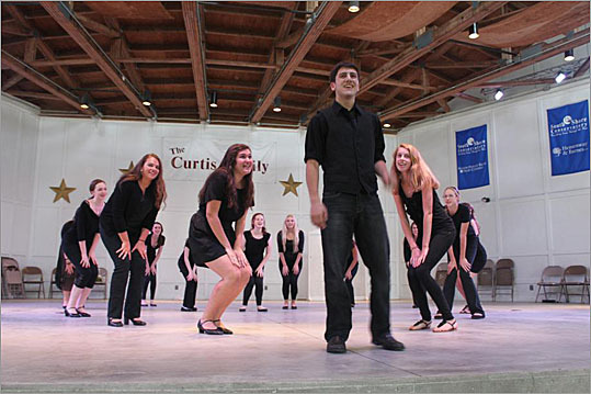 Here, students give a performance as part of the Conservatory's Summer Vocal Institute (SVI). It is a summer intensive program at 3 levels that helps vocalists discover their vocal potential and provides the tools for students to become more confident performers. Students have numerous opportunities to perform on a daily basis in various groupings: solo, duets and trios, choral, larger ensembles and musical theater scenes.