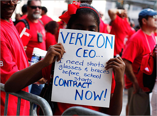 Labor union leaders say that Verizon Communications Inc. has fired 40 employees involved in a contentious two-week labor strike over the summer for alleged actions that range from threats of violence to harassment and intimidation. The 13-day strike in August quickly turned bitter and tensions were high. Here's a look back at other notable strikes and their outcomes.