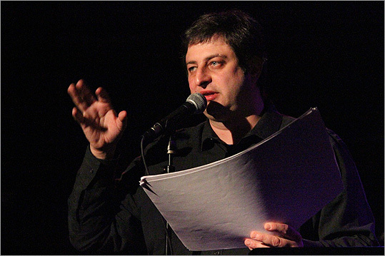 Eugene Mirman Lexington-bred <a href=' http://www.boston.com/ae/theater_arts/comedy/articles/2011/01/15/eugene_mirman_finds_success_funny/ '>comic and actor Mirman ('Flight of the Conchords') voices the middle child and family cut-up Gene on a new animated Fox comedy, 'Bob's Burgers.' Mirman used to perform at the Comedy Studio in Cambridge. Mirman recalls when they worked together at an online ad agency in Kendall Square. One of his <a href='http://www.boston.com/ae/events/articles/2006/04/28/hanging_with_eugene_mirman/ '>proudest achievements was turning his office into a bar and selling fake stock to fund it. He also managed to sneak a slogan for gingerbread men onto Nestle's website: ''Enjoy this all-too-human treat.'