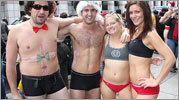 Pictures from the 12th annual Santa Speedo Run