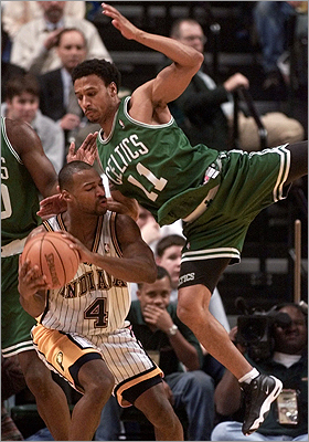 Dana Barros The retired NBA player used to play for Boston College and and several basketball teams like the Celtics. He lives in Milton. Barros tried to open a multimillion dollar multipurpose sports complex in Mansfield but had to abandon it due to financial and legal headaches. Pictured: Boston Celtics guard Dana Barros, top, comes down on Indiana Pacers guard Travis Best.