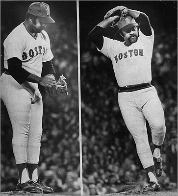 Luis Tiant Known simply as El Tiante, Luis pitched for six major league teams. His most iconic game came in the 1975 World Series with the Red Sox. Tiant lived in Milton during much of his time playing for the Sox. The Cuban native recently visited his former island home after 46 years.