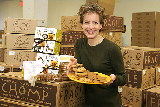 Trish Karter The artist and businesswoman is the cofounder of Dancing Deer Baking Co., a mail order preservative-free bakery that started in West Roxbury. Karter lives in Milton and her company's products can be found in grocery stores like Whole Foods. A self-described social activist, Karter employed urban workers, allowing them to become stakeholders in the company.