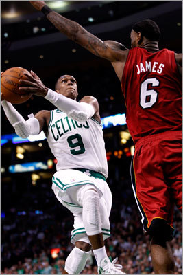 4. Have Rondo make a leap Rajon Rondo made the leap to All-Star point guard last season, but there are two areas in which he can improve: consistency and free-throw shooting. Rondo started last season on fire, averaging 16.7, 13.4, and 13.0 assists in each of the season's first three months. But his numbers fell off drastically, especially in March and April, where he saw his assist averages slip into single digits. He's a player who can take over a playoff game with an unbelievable triple-double, so we know he has the talent. On the free throws: if he just makes them and keeps going to the hoop, the Celtics will have another weapon in the fourth quarter.