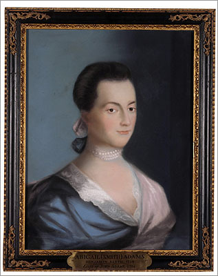 Abigail Adams She was the first Second Lady of the United States and then the second First Lady of the United States. Adams was a descendant of the influential Quincy family (for which the town is named). Back then, the Adams family technically lived in what was then Braintree. Quincy was not incorporated as a town until 1792. The letters and intellectual discussions between Adams and her husband John provided historians with an intimate look into life during the Revolutionary War.