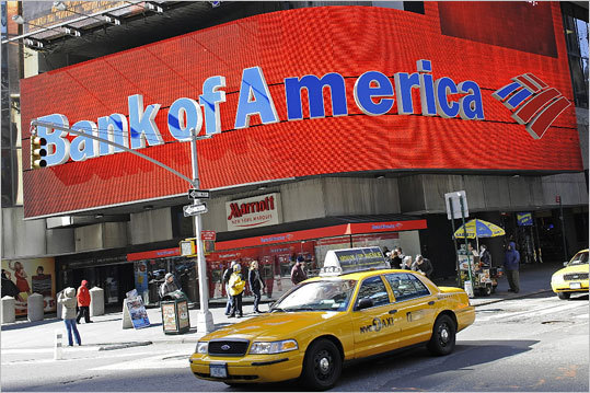 Bank of America The nation's second-largest bank announced in September that it planned to charge $5 a month to use its debit cards. The negative reaction from bank users was swift and harsh . People petitioned and mobilized and even organized a day to cancel their accounts together. Ultimately, the company backed away from the fee. After all the hubbub, a company executive acknowledged the fee was 'too aggressive.'