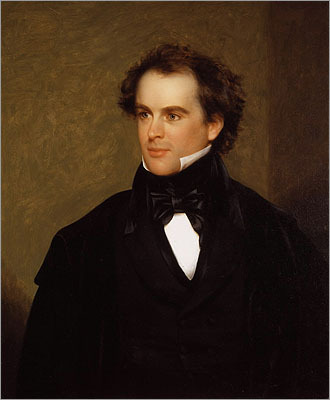 "Nathaniel Hawthorne Hawthorne was born in Salem, where his ancestor was a judge in the notorious witch trials. Hawthorne eventually called Concord home with his wife Sophia at the Old Manse, now a museum. His literary work focused on the complexities of the Puritan philosophy. He had to leave Salem after writing 'The Scarlet Letter.' ""If I escape town without being tarred and feathered,"" Hawthorne later wrote to a friend, ""I shall consider it good luck."""