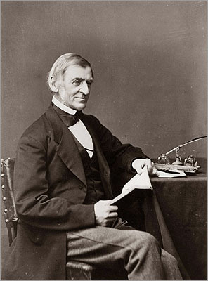 Ralph Waldo Emerson The author of 'Self-Reliance' and 'Nature' lived in Concord. His home, where he entertained and debated guests like Louisa May Alcott and Henry David Thoreau, is now <a href=' http://www.newenglandtravelplanner.com/go/ma/boston_west/concord/sights/emerson_house.html'>a memorial. He became a thought leader behind the Transcendentalist movement, which emphasized nature and the individual.