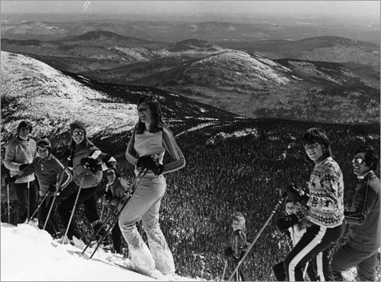 The New York Times recently produced a wonderful essay of vintage ski photos , which inspired us to delve into our own photo archives and see what sort of images we had taken from the slopes over the years. Here's a selection from the hundreds of photos we discovered.