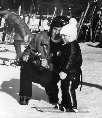 Ann Pawlowski, a ski instructor at Gunstock, taught her two-year-old son, Dean, at the Gilford, N.H. ski area on Jan. 31, 1973.