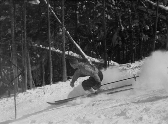 A skier navigated Taft at Cannon Mountain in Franconia Notch, N.H., in 1939.