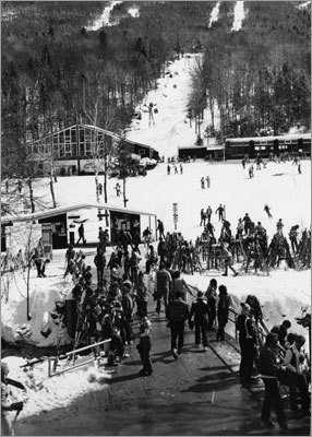 An undated photo of a Sunday at Wildcat Mountain in Pinkham Notch, N.H.