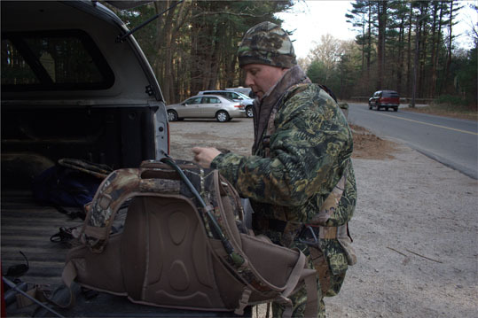 Lt. David Horte, a Hingham resident and Hingham police officer, usually goes out hunting 30 times a season, which lasts from mid October through December for bow hunters. He has 12 tree stands in Hingham, all in different locations. Specifically in Hingham conservation land, hunters are only allowed to hunt from tree stands rather than stalk prey through the woods.