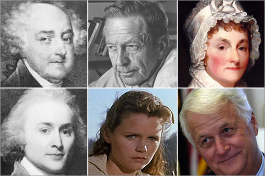 Several writers and prominent historical figures called Quincy their current or former home. Learn about their time in the Greater Boston area. NOTE: We did the best we could to cross-check rumors of celebrity residence. But if you're positive we forgot to add someone, and you have proof, let us know.