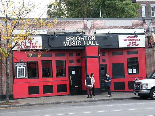 Brighton Music Hall Address: 158 Brighton Ave., Allston Status: Opened in January 2011 Live concert venue and nightclub. Formerly Harpers Ferry, also a music hall, which closed on Halloween 2010 after a 40-year run. The Hall is seeking city approval to increase its capacity from 340 to 476