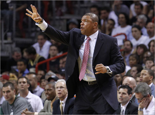 Celtics coach Doc Rivers wasn't happy with the Celtics' defense in the first half. 'I told our guys at halftime, I didn't know if our defense was good or not, because we didn't play it, we were always in transition,' he said.