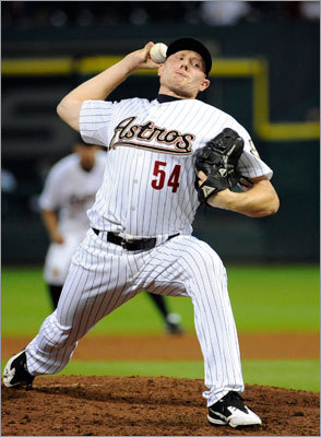 Mark Melancon, RHP Cherington traded shortstop Jed Lowrie and righthanded pitcher Kyle Weiland to the Astros for Melancon, who saved 20 games last season with a 2.78 ERA. Drafted by the Yankees in 2006, the 26-year-old is in the discussion to close for the Red Sox in 2012, but nothing's been finalized. 'I think ultimately it will fall on Bobby and also our pitching coach, Bob McClure,' Cherington said. 'We believe both are fully capable of doing it. Bailey's been doing it for a little bit longer, so perhaps he goes in with the leg up.'