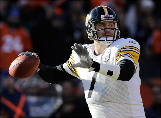 Broncos 29, Steelers 23 (OT) The health of Steelers quarterback Ben Roethlisberger was a big question coming into Sunday's game, with the QB nursing an ankle injury.