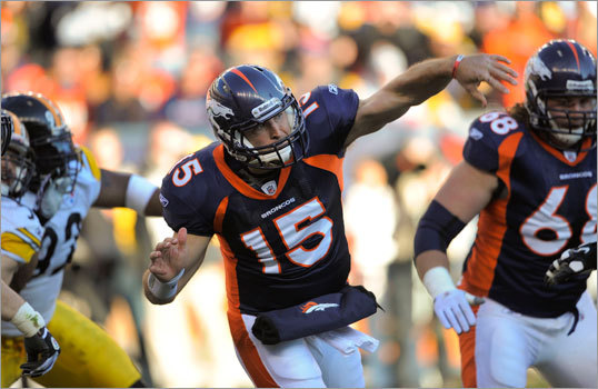 Broncos 29, Steelers 23 (OT) All eyes were on Broncos quarterback Tim Tebow as the Broncos hosted the Pittsburgh Steelers Sunday.