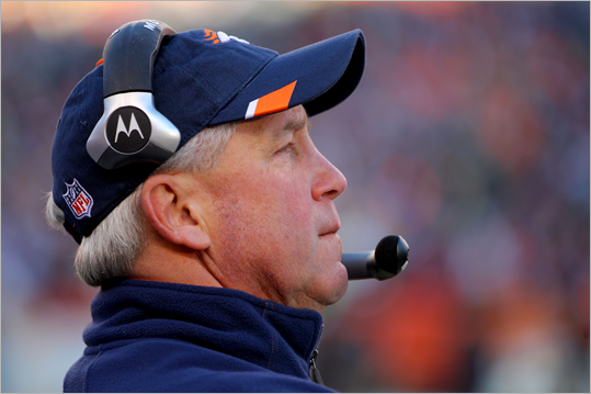 John Fox, coach In his first year as the Broncos' head coach, he ended a six-year playoff drought, despite his team losing the last three games of the season and finishing 8-8. Fox previously coached the Panthers from 2002-2010, including a Super Bowl XXXVIII appearance against the Patriots. The Patriots won, 32-29, on a last-second field goal by Adam Vinatieri.