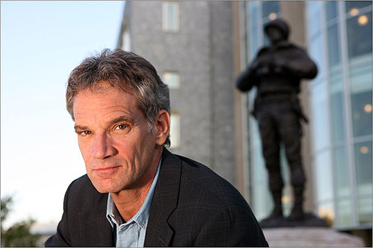 Jon Krakauer The outdoor aficionado and author of books such as 'Into the Wild' and 'Into Thin Air' was born in Brookline. However, he grew up in Oregon, where he discovered his love for mountaineering at a young age. He studied at Hampshire College in Massachusetts.