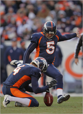 Matt Prater, K He won't have the advantage of kicking at Mile High, but he's still one of the best kickers in the league. He missed one attempt from inside 39 yards this season and hit 3 of 4 from 50 and beyond. He began his career in Denver in 2008 after being drafted out of Central Florida.