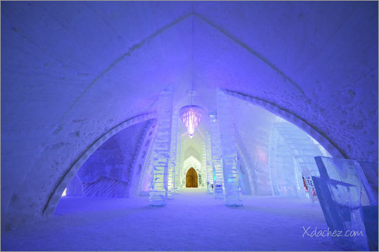 The 2012 version of Quebec's annual ice hotel opens its doors to guests on Jan. 20. This year's hotel, built in three phases, has been completely redesigned from years past and carries the cultural theme of Northern Quebec. Check out these cool images of the hotel from last year.
