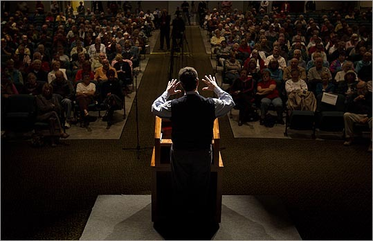 Rick Santorum held a town hall meeting in Sun City, S.C.