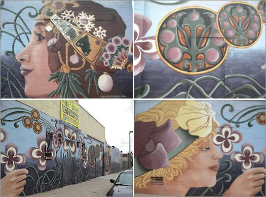 Mother Earth, Columbus Avenue, Roxbury. By the Mayor's Mural Crew.